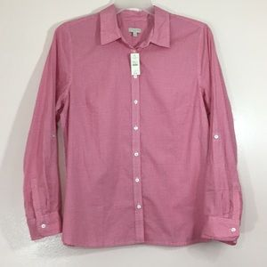 Talbots Woman's Button Front Shirt Size: Large